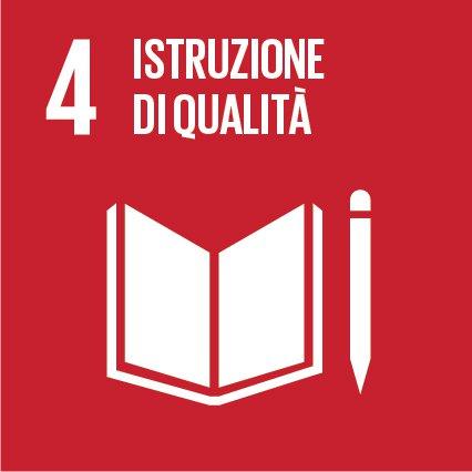 SDGs 4.  Fornire un'educazione di qualità, equa ed inclusiva, e opportunità di apprendimento per tutti