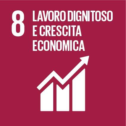 SDGs 8.  Incentivare una crescita economica duratura, inclusiva e sostenibile, un'occupazione piena e produttiva ed un lavoro dignitoso per tutti